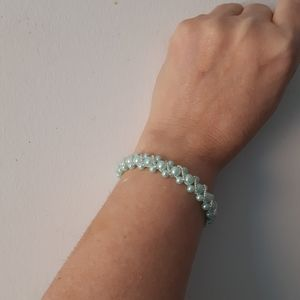 Jewelry - Turquoise and silver tennis bracelet